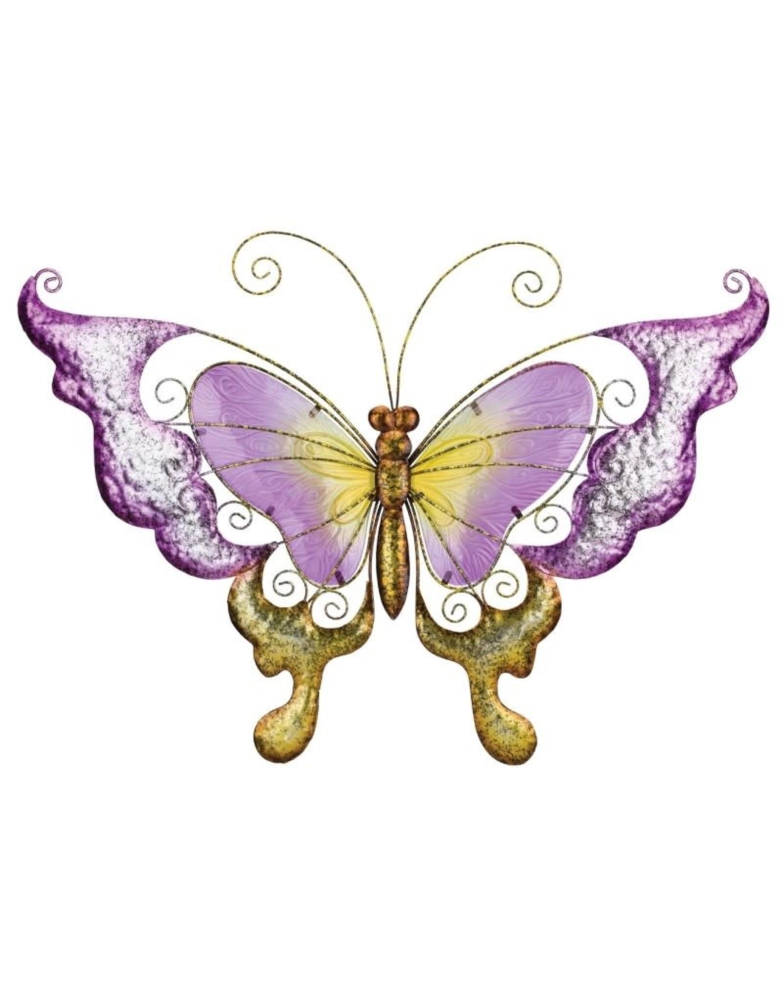 28 Inch Wall Art Butterfly - Purple