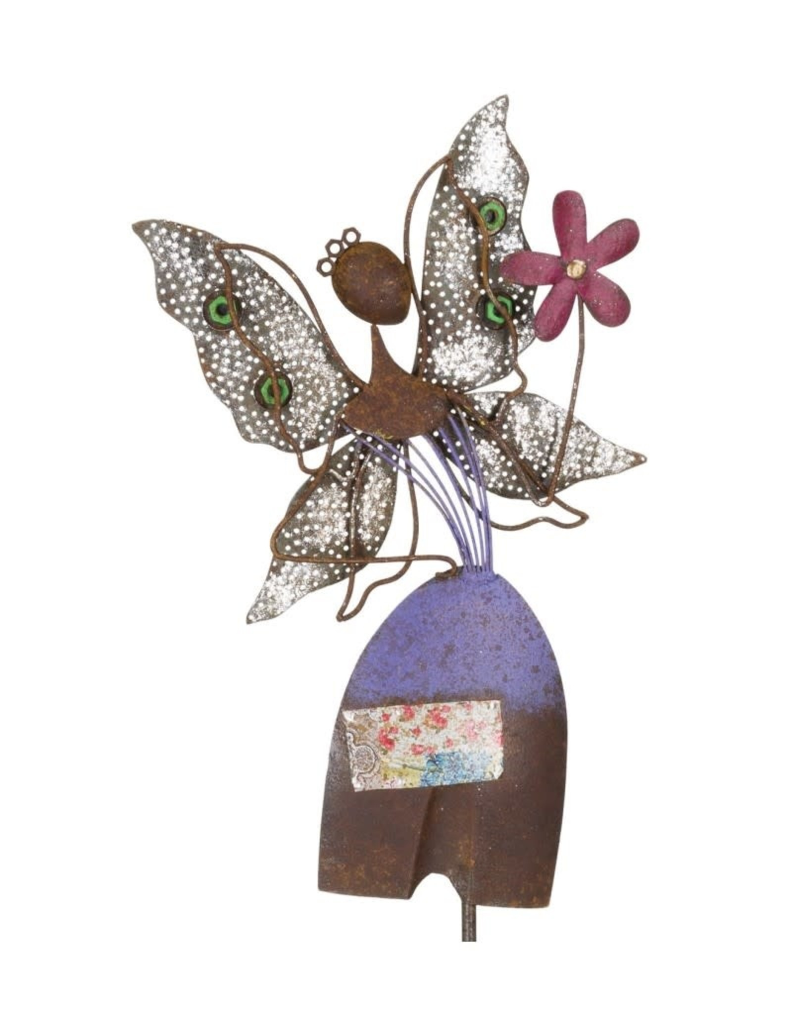 Garden Stake - Diggity Fairy With Flower