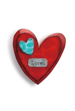 """Tracy Pesche """"Loved"""" Wall Heart"""