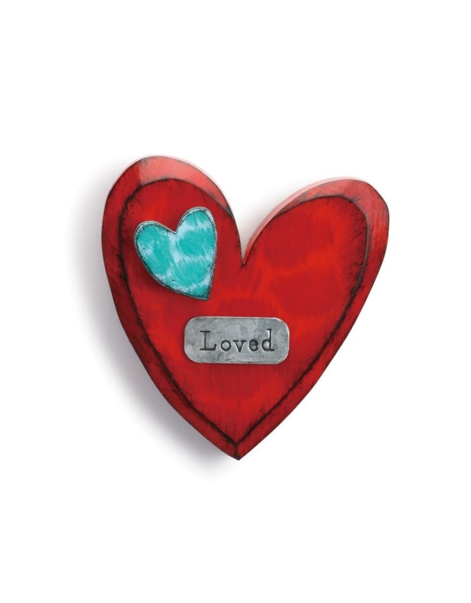 "Tracy Pesche ""Loved"" Wall Heart"