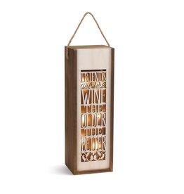 Wine Lantern - Friends are Like WIne