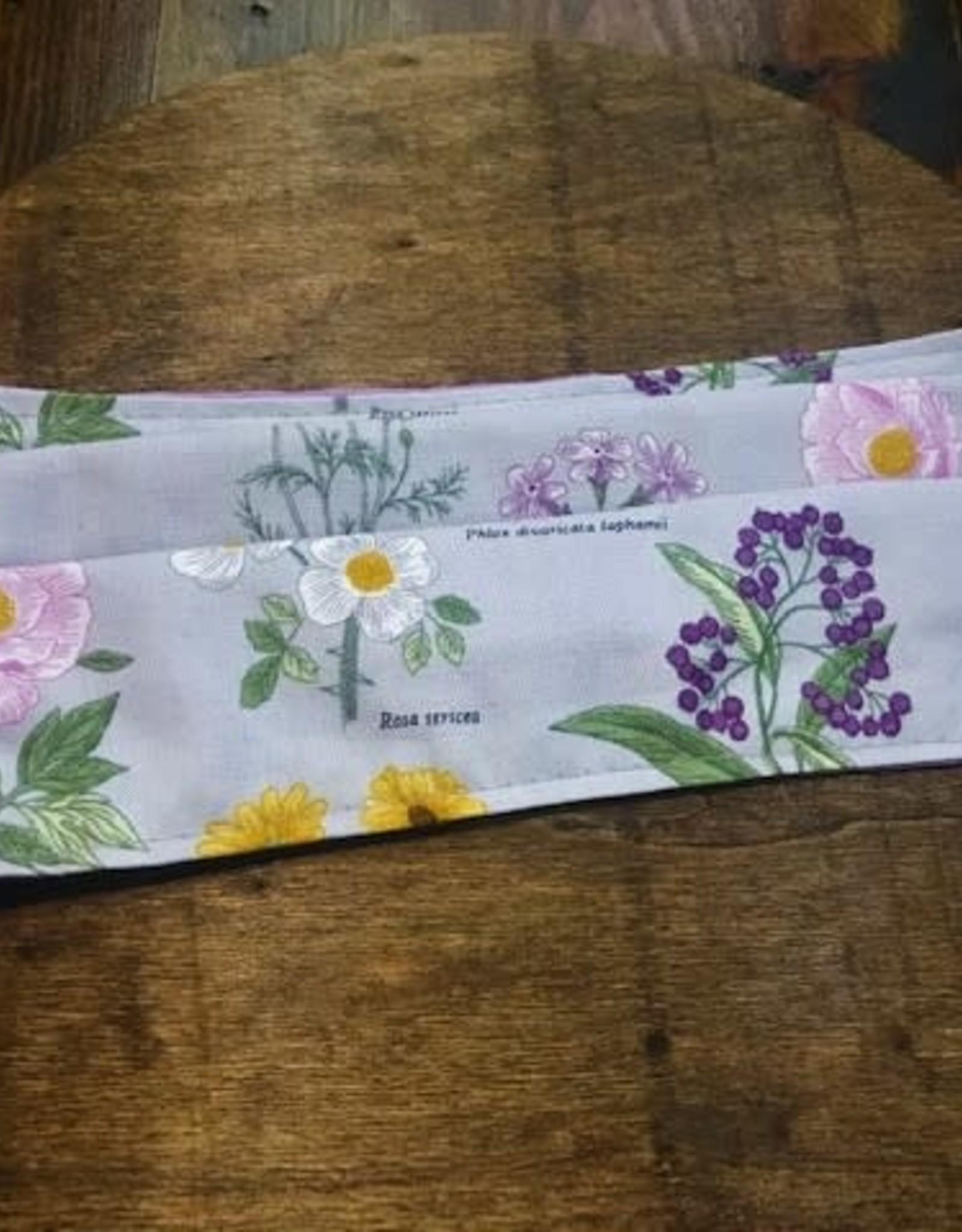 Bear Den Handmade Cotton Mask - Flowers on Lavender