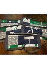 Bear Den Handmade Cotton Mask - Golf in Green & Gray