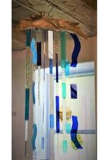 """""""Bay Breeze"""" Glass & Driftwood Suncatcher by Christine  Saksewski"""