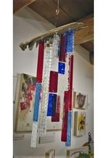 """Jubilee"" Glass & Driftwood Sun catcher by Christine Saksewski"