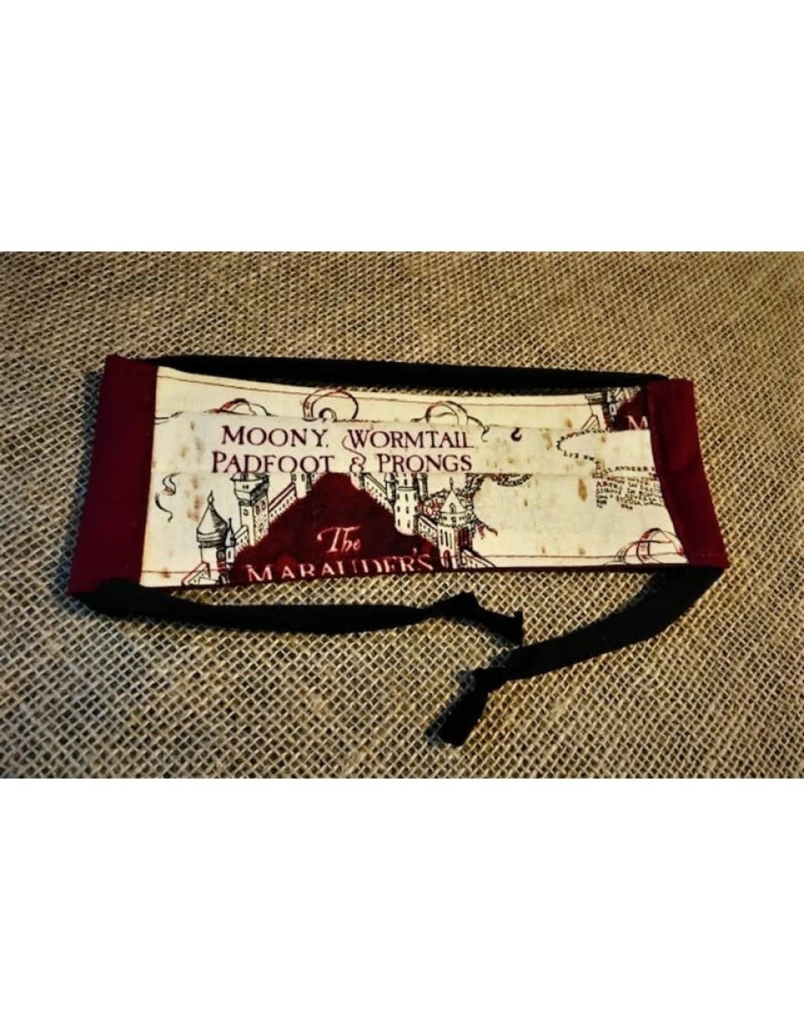 Bear Den Handmade Cotton Mask - Harry Potter Marauder's Map