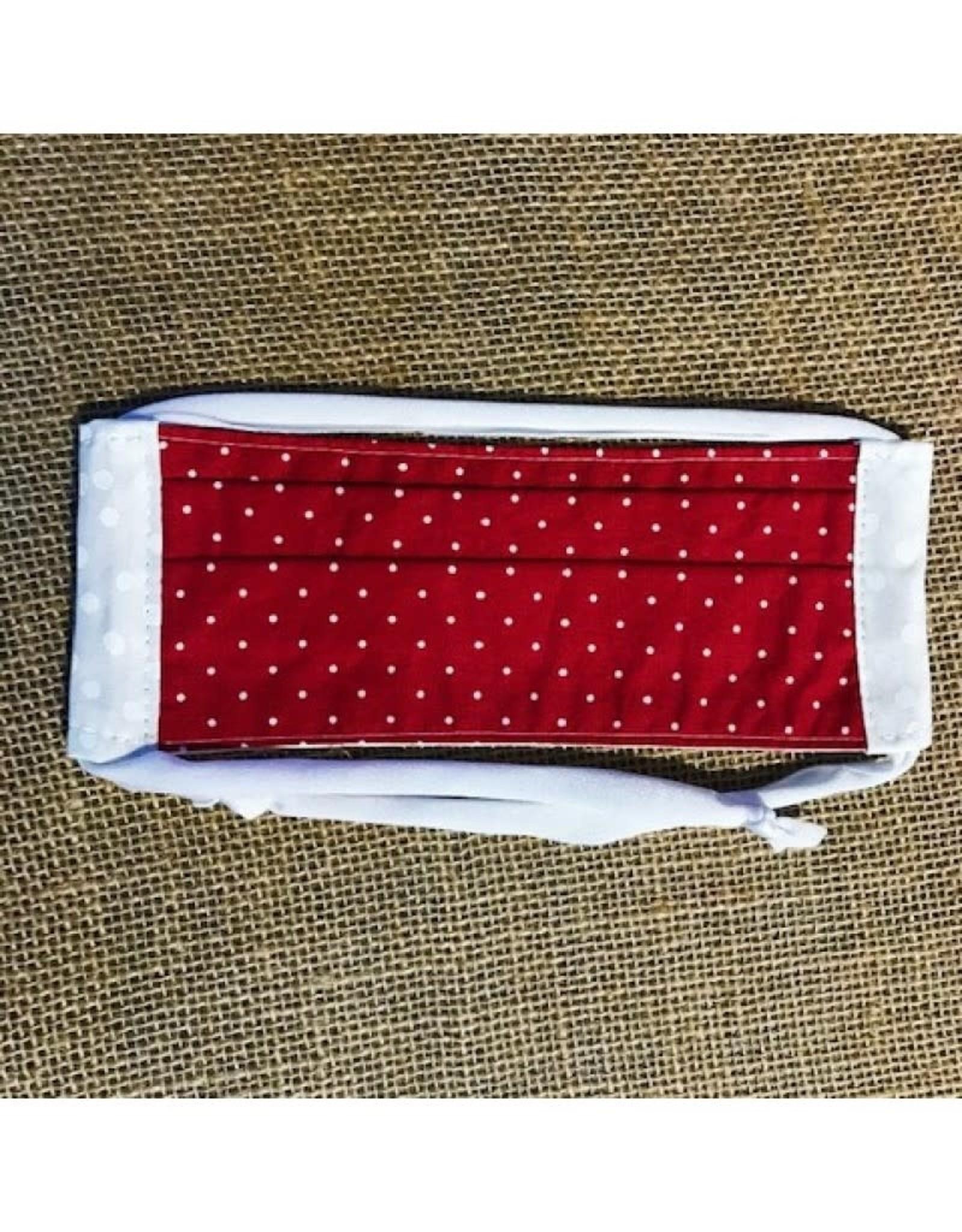 Bear Den Handmade Cotton Mask - Red Polka Dot