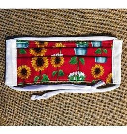 Bear Den Handmade Cotton Mask - Sunflowers & Tulips