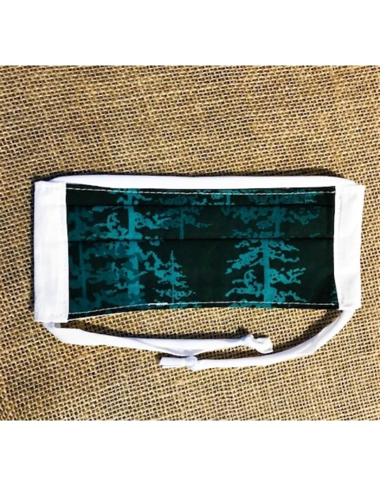 Bear Den Handmade Cotton Mask - Pine Trees