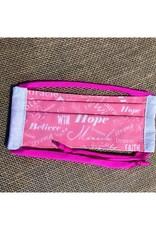 Bear Den Handmade Cotton Mask - Breast Cancer Awareness / Pink