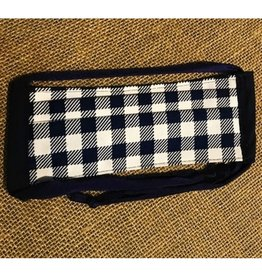 Bear Den Handmade Cotton Mask - Navy & White Plaid