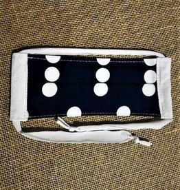 Bear Den Handmade Cotton Mask - Blue Polka Dot