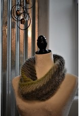 CraftCesi Knit Infinity Scarf - Green Shades