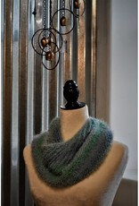 CraftCesi Knit Infinity Scarf - Blue Shades