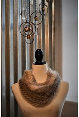 CraftCesi Knit Infinity Scarf - Brown Ombre