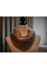 CraftCesi Knit Infinity Scarf - Brown Shades