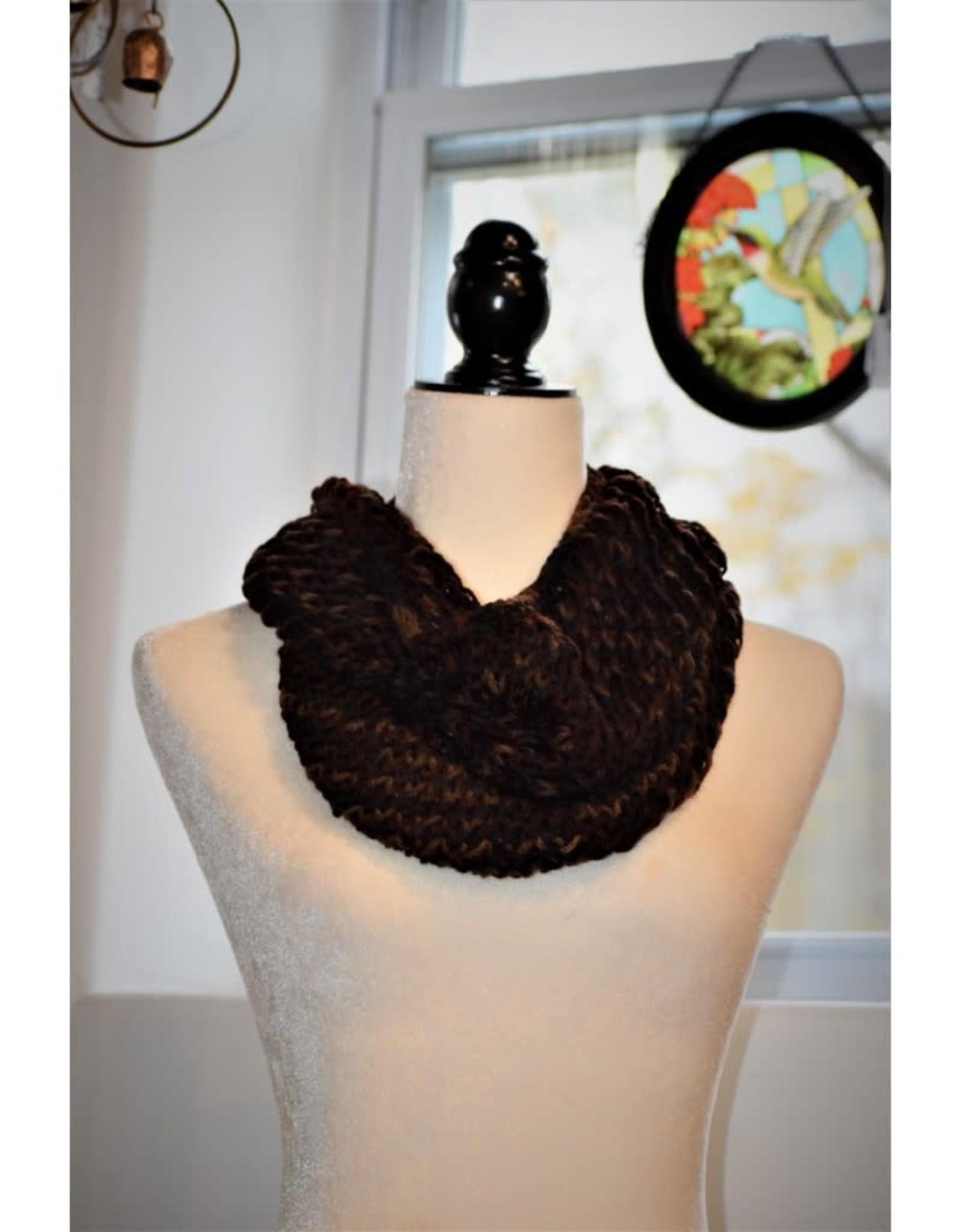 CraftCesi Knit Infinity Scarf - Earthy Shades