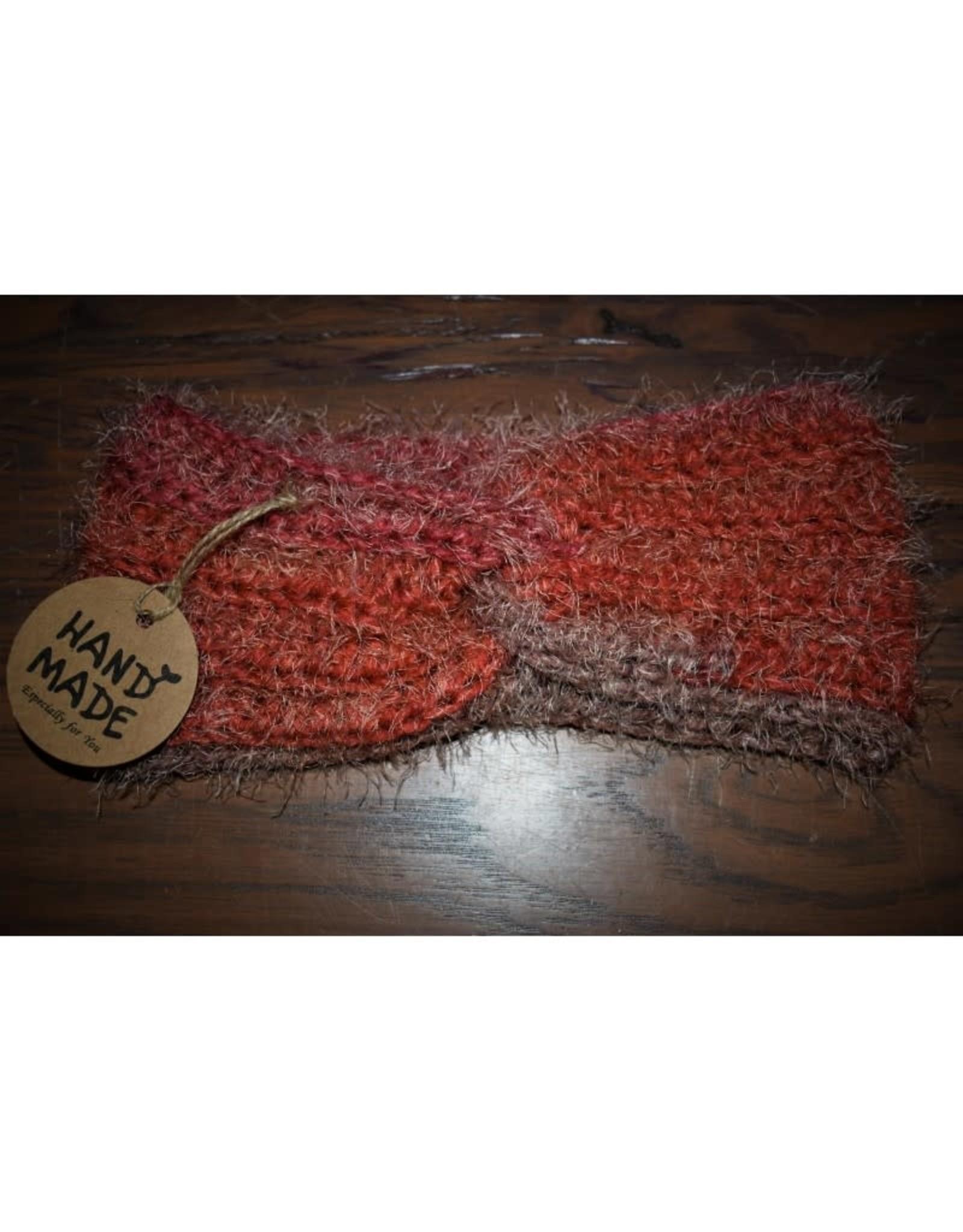 CraftCesi Knit Ear Warmer - Coral Shades