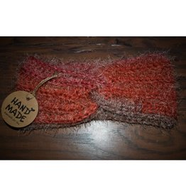 CraftCesi Knit Ear Warmer - Coral Ombre