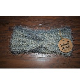 CraftCesi Knit Ear Warmer - Gray Ombre