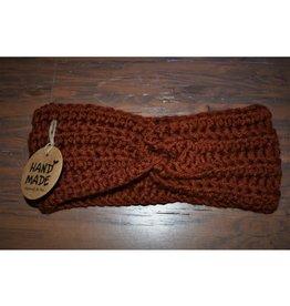CraftCesi Knit Ear Warmer - Dark Pumpkin Spice