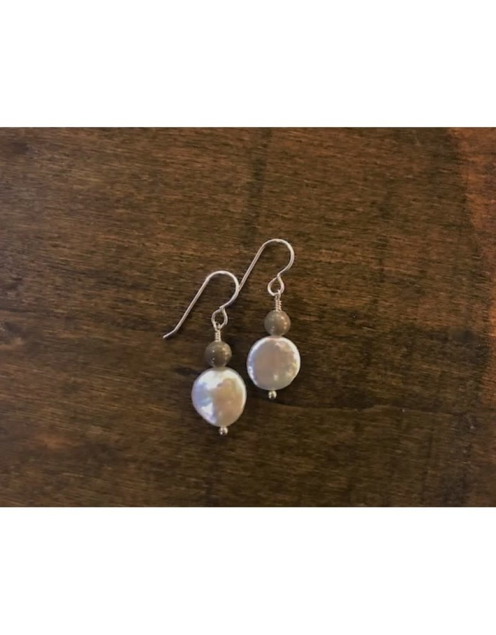 French Hook Earrings - Petoskey & Pearl Round
