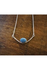 Bezel Necklace - Leland Blue