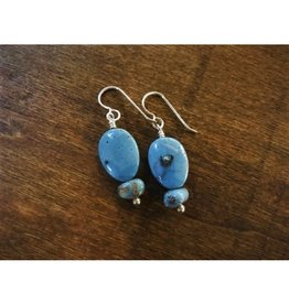 French Hook Earrings - Leland Blue Oval Duo