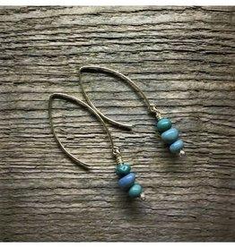 Dangle Earrings - Leland Blue 3 Stone