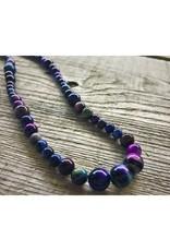 Beaded Necklace - Rainbow Tiger's Eye