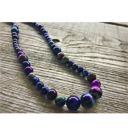 Beaded Necklace - Rainbow Tiger's Eye