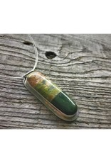 Dual Pendant Necklace - Unakite & Frankfort Green