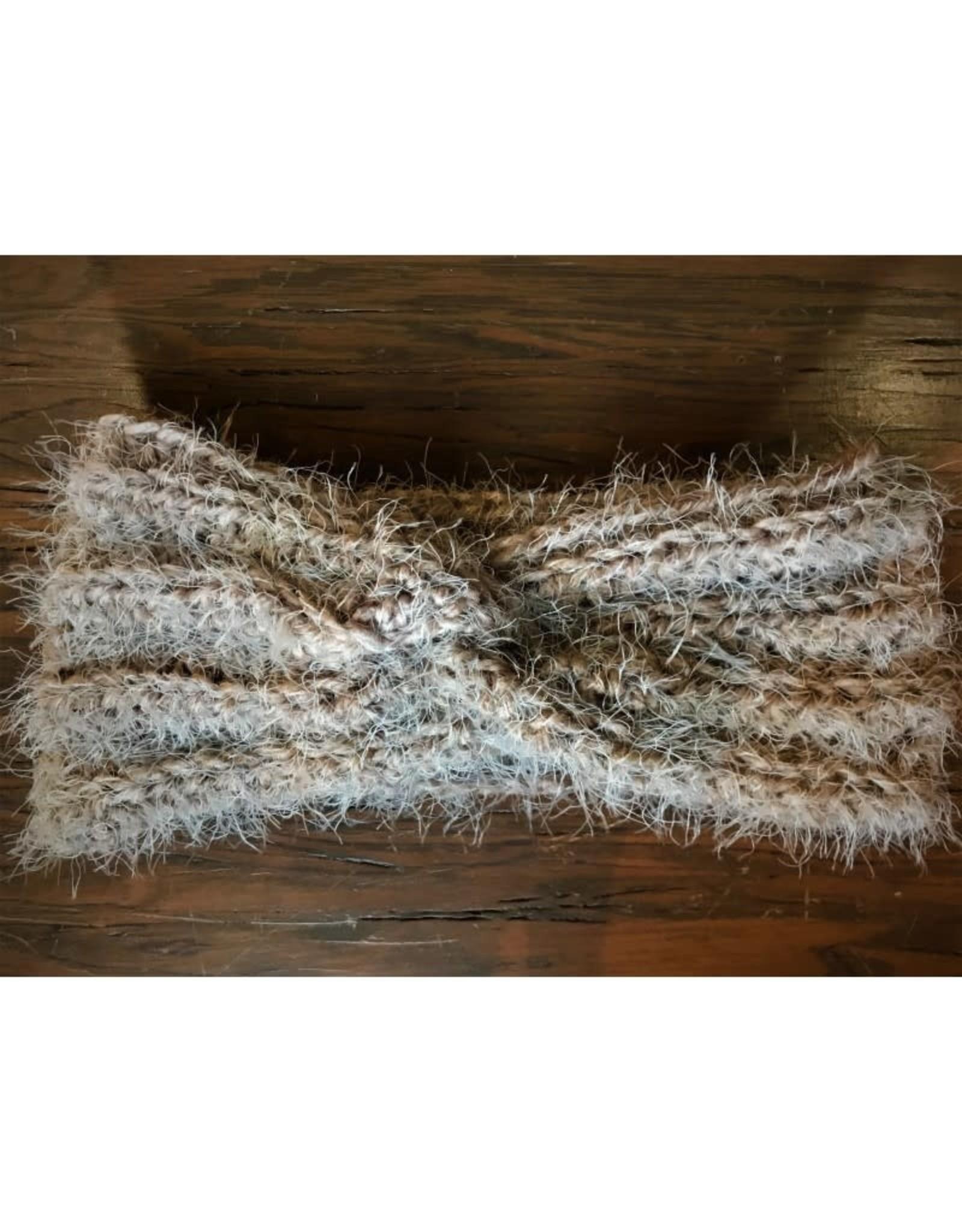 CraftCesi Knit Ear Warmer - Brown Shades