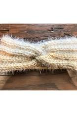 CraftCesi Knit Ear Warmer Yellow Cream