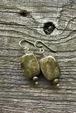 French Hook Earrings - Petoskey Stone