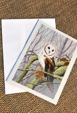 Ron Wetzel Card 4.5''x6''- Barn Owl