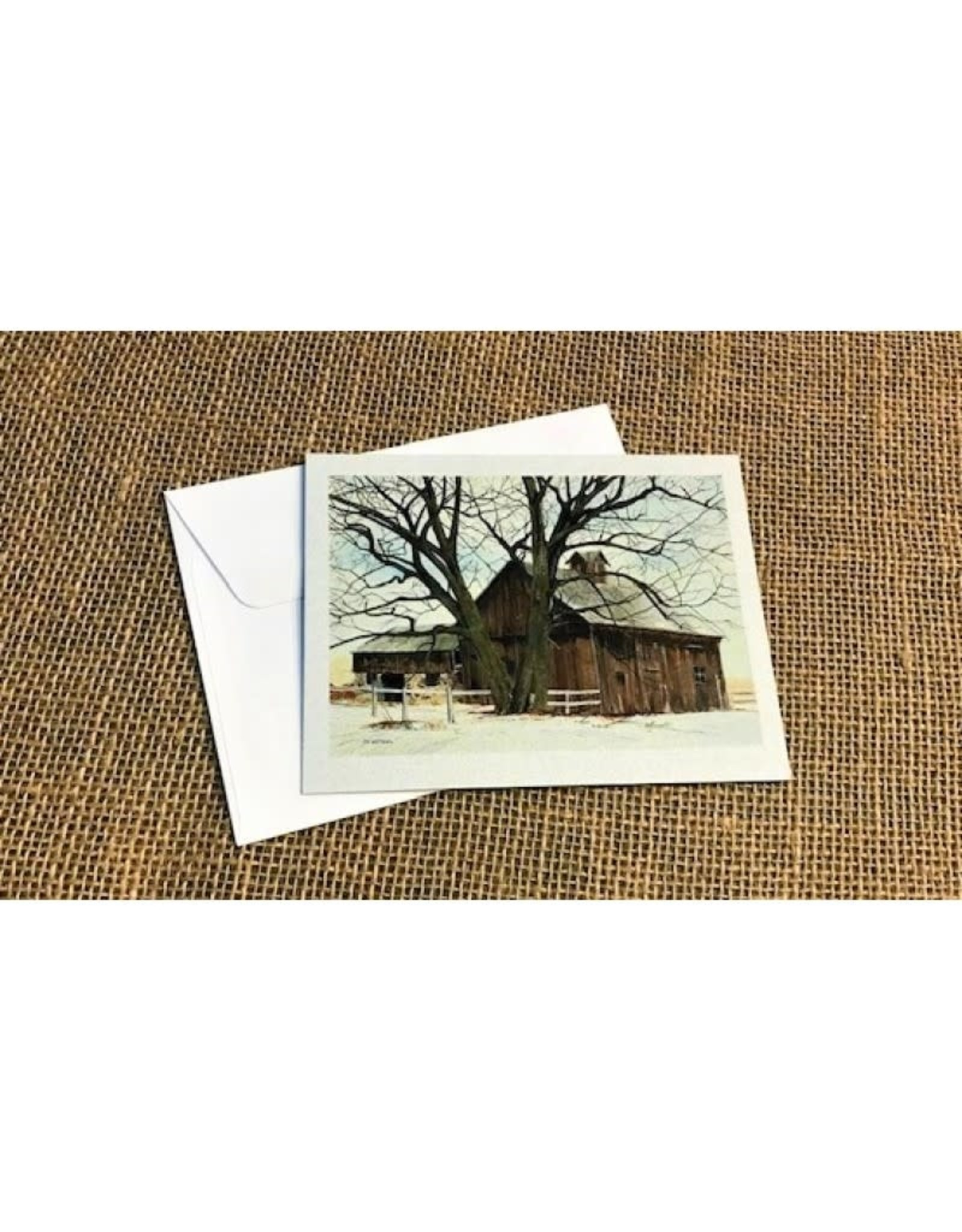 Ron Wetzel Card 4.5''x6''- Winter Barn