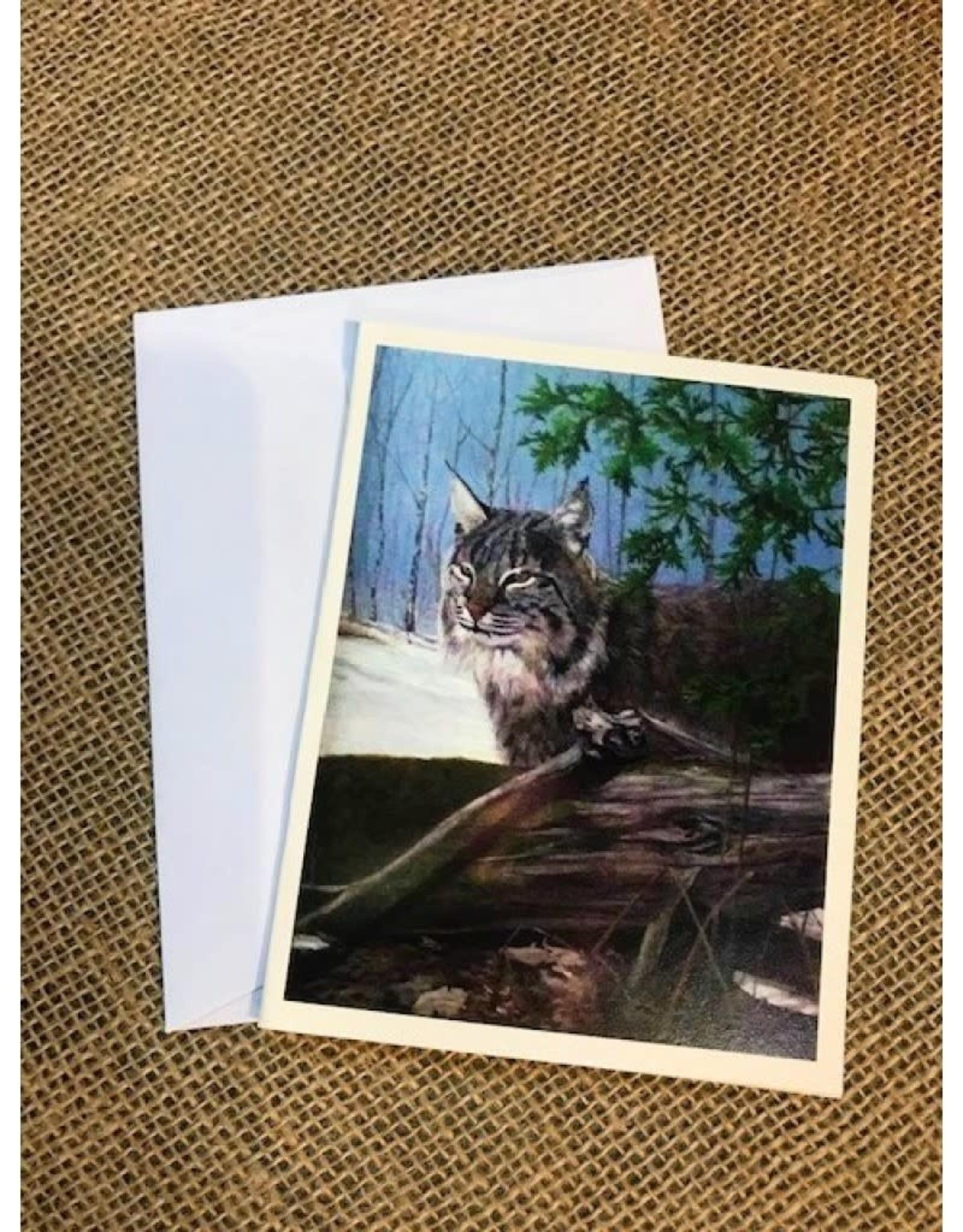 Ron Wetzel Card 4.5''x6''- Early Spring Lynx