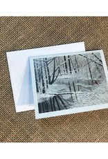 Ron Wetzel Card 4.5''x6''- Winter Stream Cardinals