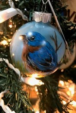 Hand-Painted Ornament - Bluebird in Spring