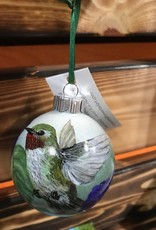 Hand-Painted Ornament - Hummingbird in Spring