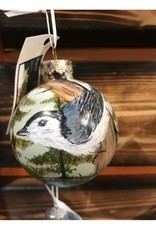 Hand-Painted Ornament - Nuthatch in Spring