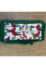 Bear Den Handmade Cotton Mask - Christmas Cardinals