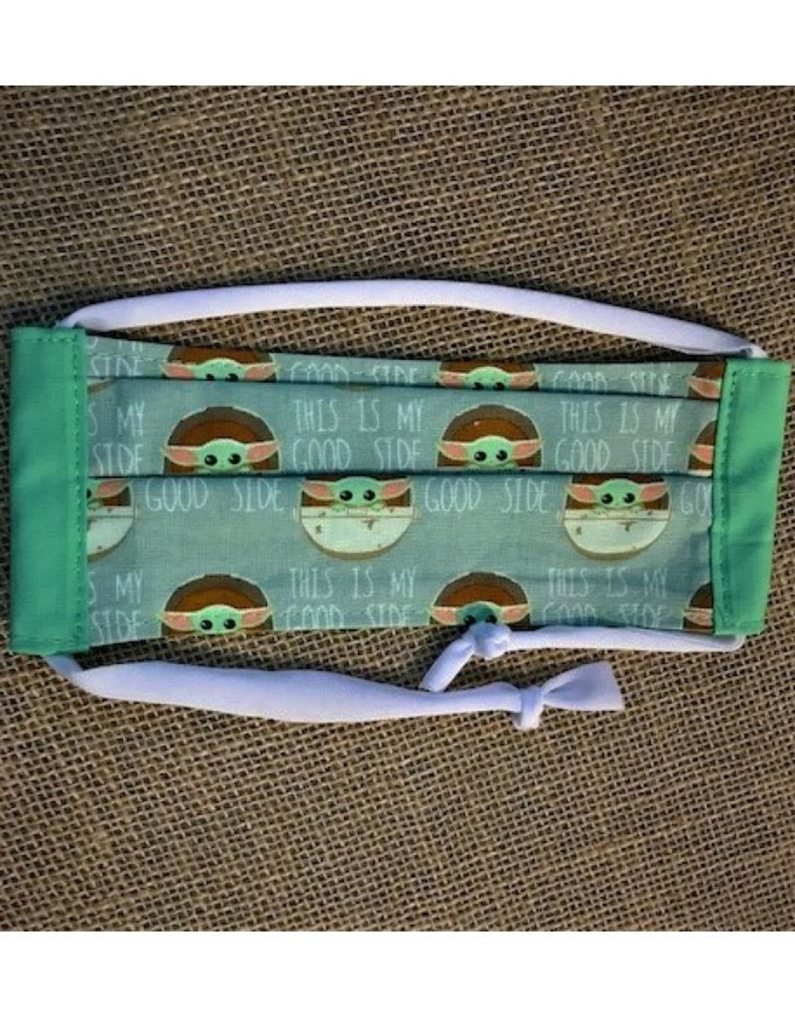 Bear Den Handmade Kids Mask - Baby Yoda