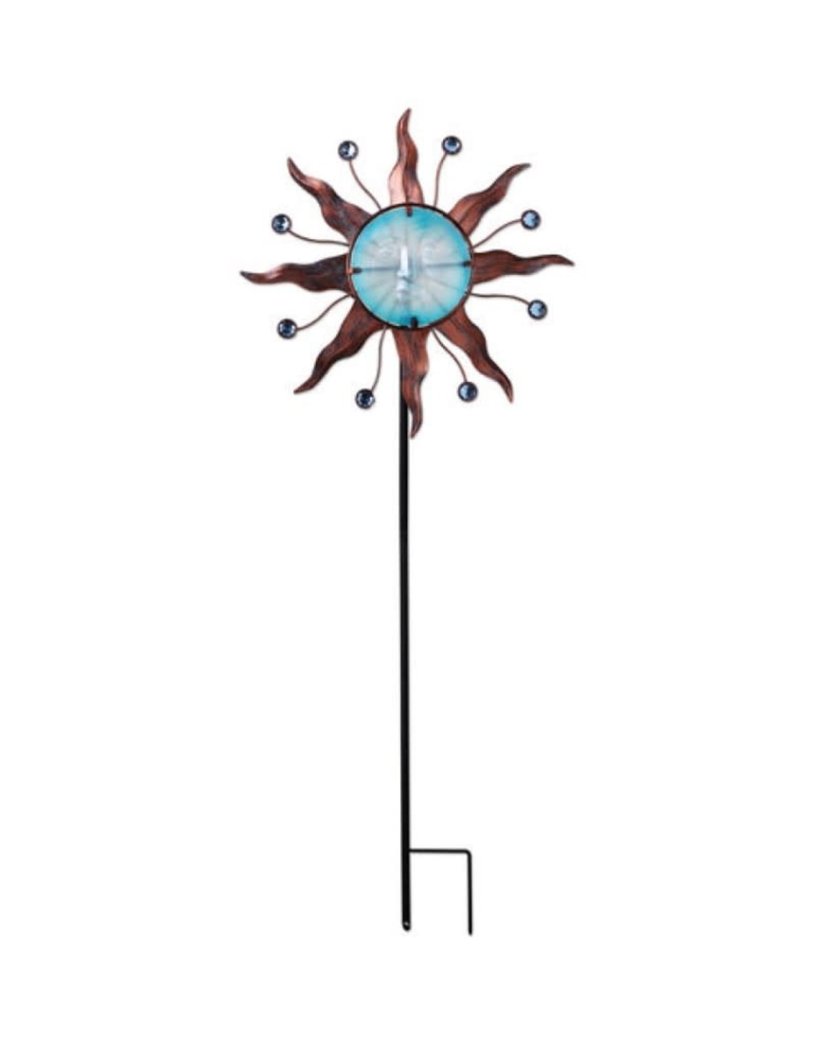 Wind Spinner Stake - Celestial Blue Sun