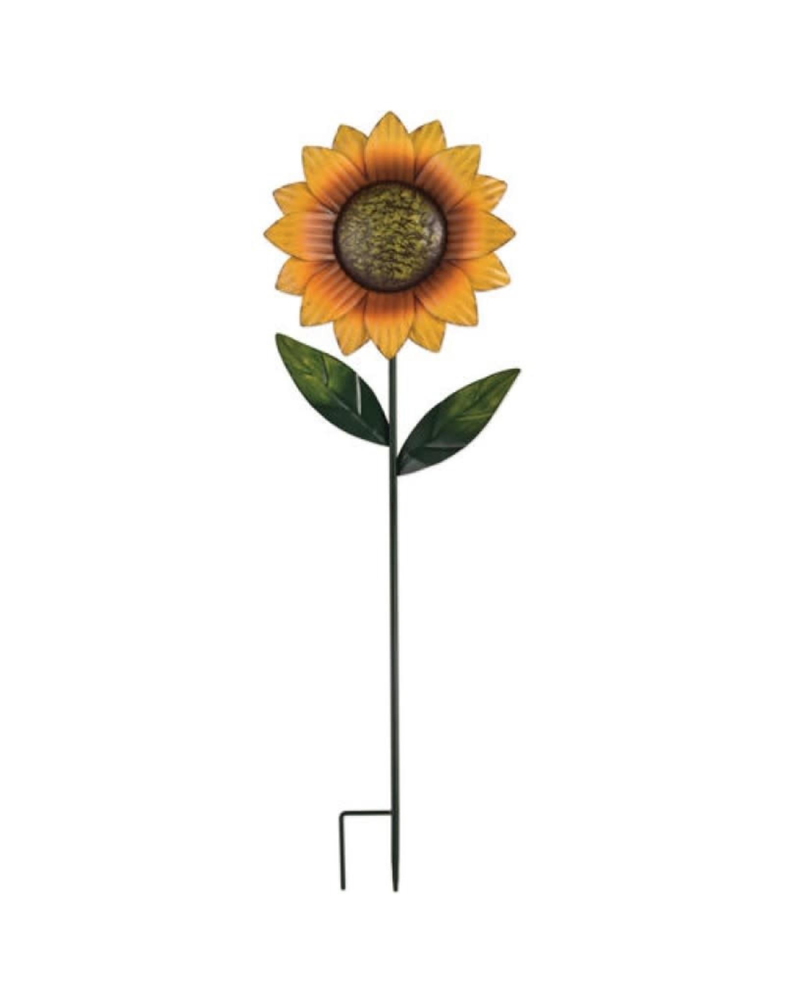 Garden Stake - Rustic Sunflower Medium