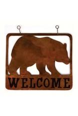 Welcome Sign - Metal Bear