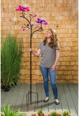Kinetic Wind Spinner Stake - Double Solar Lotus