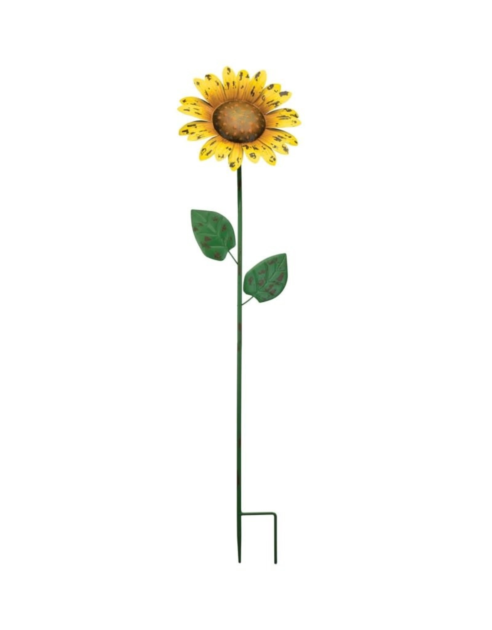 Garden Stake - 36'' Rustic Sunflower