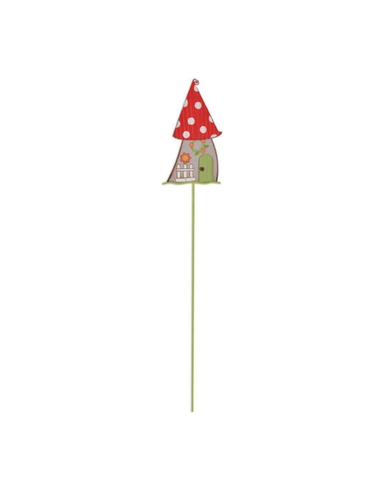 Garden Stake - Red Mushroom House